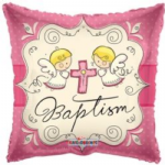 "BAPTISM GIRL BALLOON  18""  19441-18"